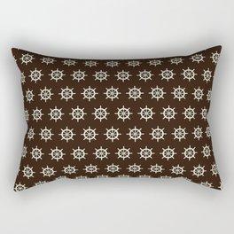 Ship Wheel Pattern Rectangular Pillow