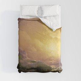 The Ninth Wave nautical sunset ocean storm landscape masterpiece by Ivan Aivazovsky Comforters