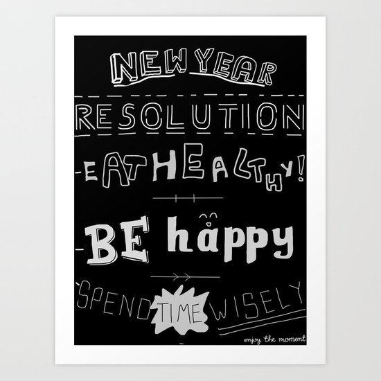 New year Resolutions Art Print