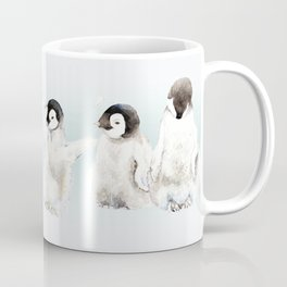 Playful Penguin Chicks - Watercolor Painting Coffee Mug