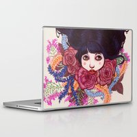 sandra dieckmann Laptop & iPad Skins featuring Sandra by Magali Almada