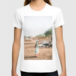 Woman Carrying Water in Village in Rajasthan, India   Travel Photography T-shirt