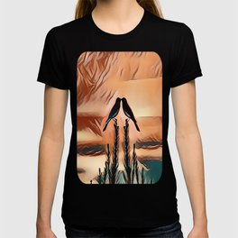 Two LoveBirds Greeting the Early Morning Sunrise T-shirt