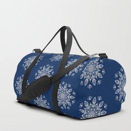 RB Mandala Design with botanical elements Duffle Bag