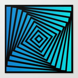 Squares twirling from the Center. Optical Illusion of Perspective bu Squares twirling Canvas Print