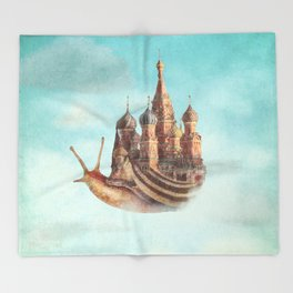 The Snail's Daydream Throw Blanket
