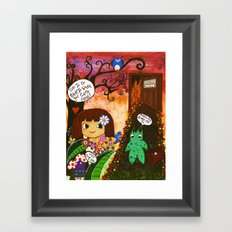 Hell is calling Framed Art Print