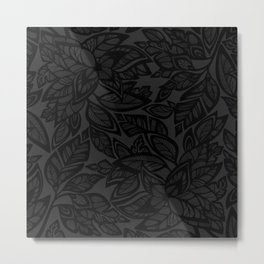 Let Love Grow - black/charcoal Metal Print