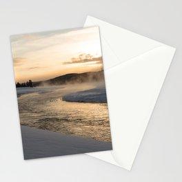 Yellowstone National Park - Sunrise along the Madison River Stationery Cards