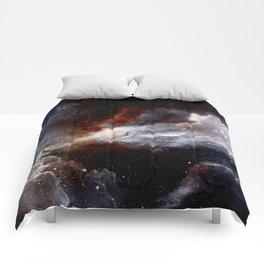 Dust, hydrogen, helium and other ionized gases Comforters