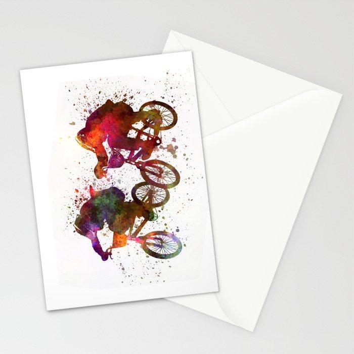 BMX Race Stationery Cards