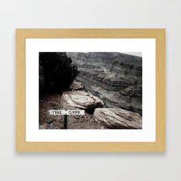 Trail Closed Framed Art Print