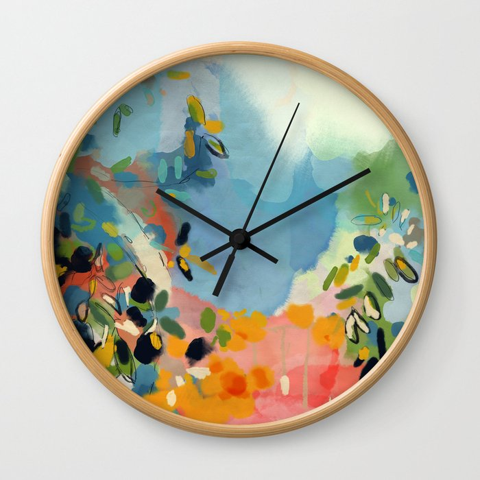 garden with sea view and olive tree Wall Clock