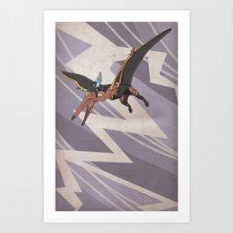 Pteranostorm - Superhero Dinosaurs Series Art Print