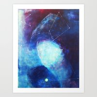 constellation Art Prints featuring constellation by Oana Popan