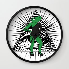 All The Single Lizards Wall Clock