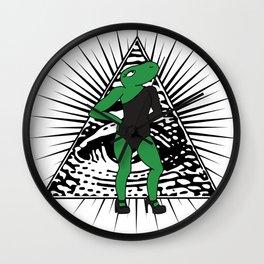 All The Single Lizards Wall Clock