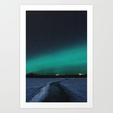 Northern Lights in the Great North Art Print