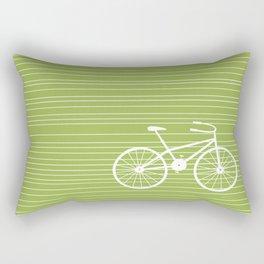 Green Bike Rectangular Pillow