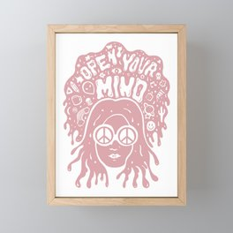 Open Your Mind in pink Framed Mini Art Print