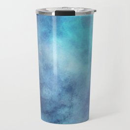 cosmic blue abstract Travel Mug