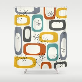 Mid Century Modern Shapes 02 #society6 #buyart Shower Curtain