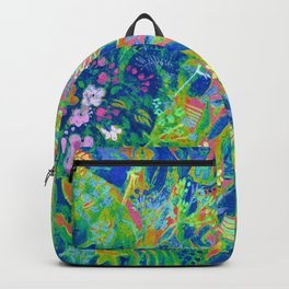 Summer Girl, Imaginary Portrait, Rainbow Colorful Backpack