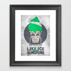 Like Ice in the Sunshine. Framed Art Print