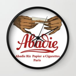 ABADIE 2 rolling papers Wall Clock