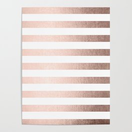 Simply Striped Moon Dust Bronze Poster