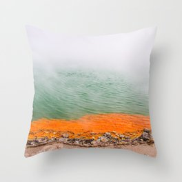 Orange Edged Throw Pillow