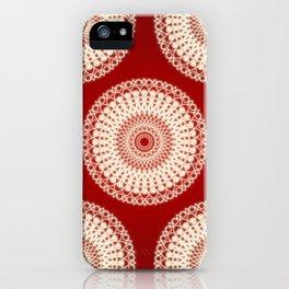 Christmas mandala iPhone Case