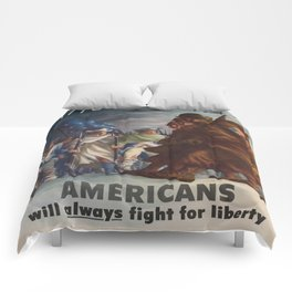 Vintage poster - World War II Comforters