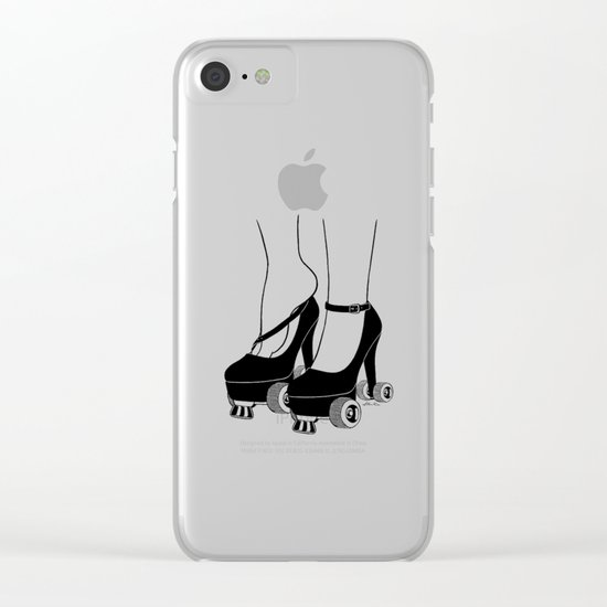 Girls Just Wanna Have Fun Clear iPhone Case