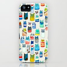 Lots of Watercolor Kitty Cats iPhone SE Slim Case