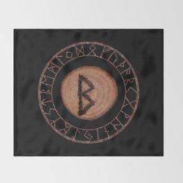 Berkano Elder Futhark Rune secrecy, silence, safety, mature wisdom, dependence, female fertility Throw Blanket