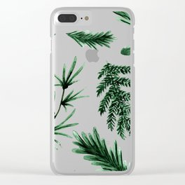 Greenery Pine Clear iPhone Case