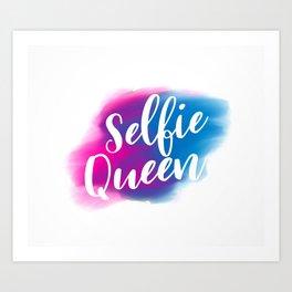 Selfie queen Art Print