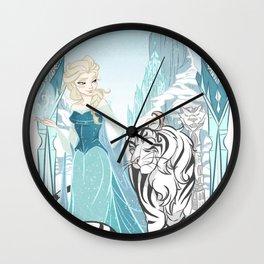 Frozen White Tiger Wall Clock