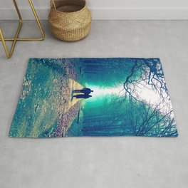 Peaceful love walk Rug