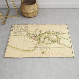 Map Of Cartagena 1790 Rug