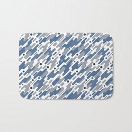 Modern Camouflage Blue Marine Army Pattern Bath Mat