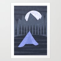 camping Art Prints featuring Camping by Imagonarium