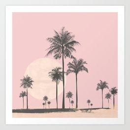 Tropical Sunset In Peach Coral Pastel Colors Kunstdrucke