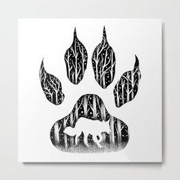 WHITE FANG Metal Print