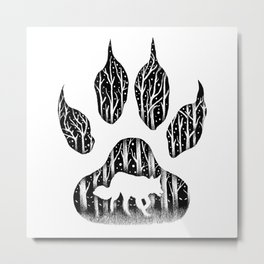 WHITE FANG Metal Print