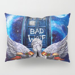 The Angel with Tardis Pillow Sham
