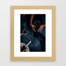 Ethiopian Coffee Brûlée [Blue Scale] Framed Art Print