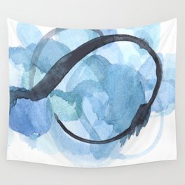 Ampersand: a vibrant blue abstract art piece Wall Tapestry
