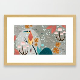 Fall in the forest Framed Art Print